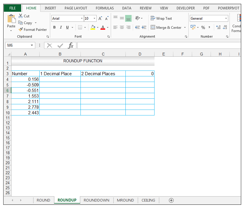 ROUNDUP Function in Excel - Image 1