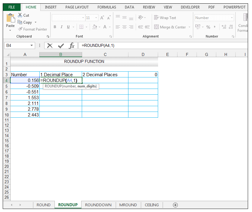 ROUNDUP Function in Excel - Image 2