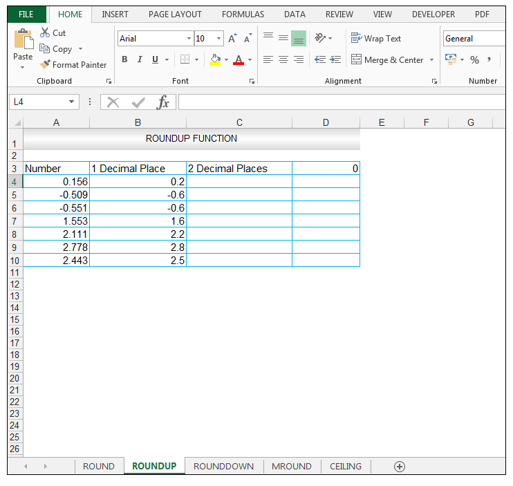 ROUNDUP Function in Excel - Image 4
