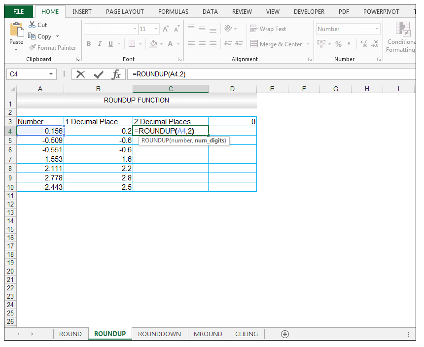 ROUNDUP Function in Excel - Image 5