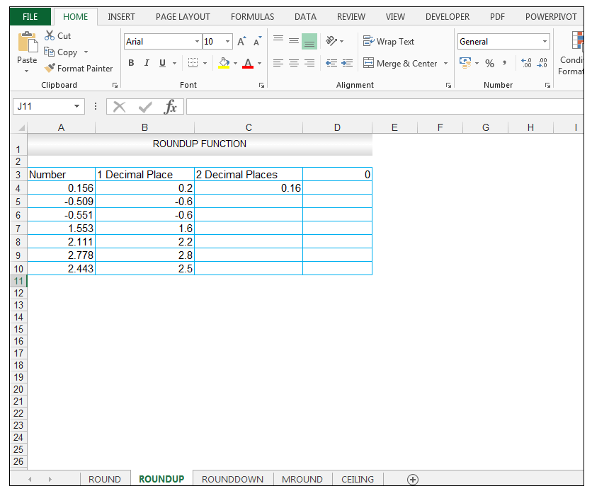 ROUNDUP Function in Excel - Image 6