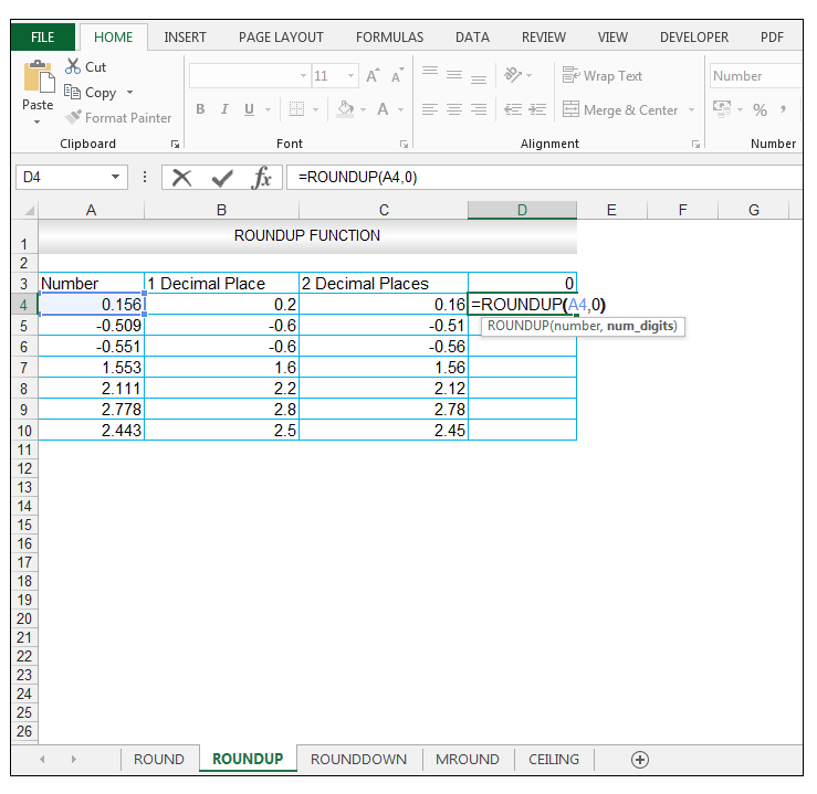 ROUNDUP Function in Excel - Image 8