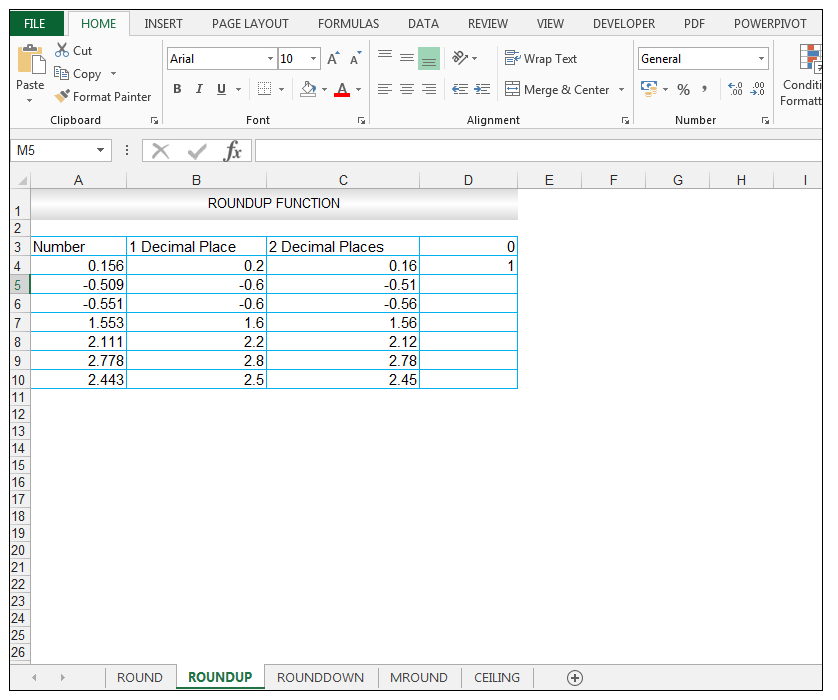 ROUNDUP Function in Excel - Image 9