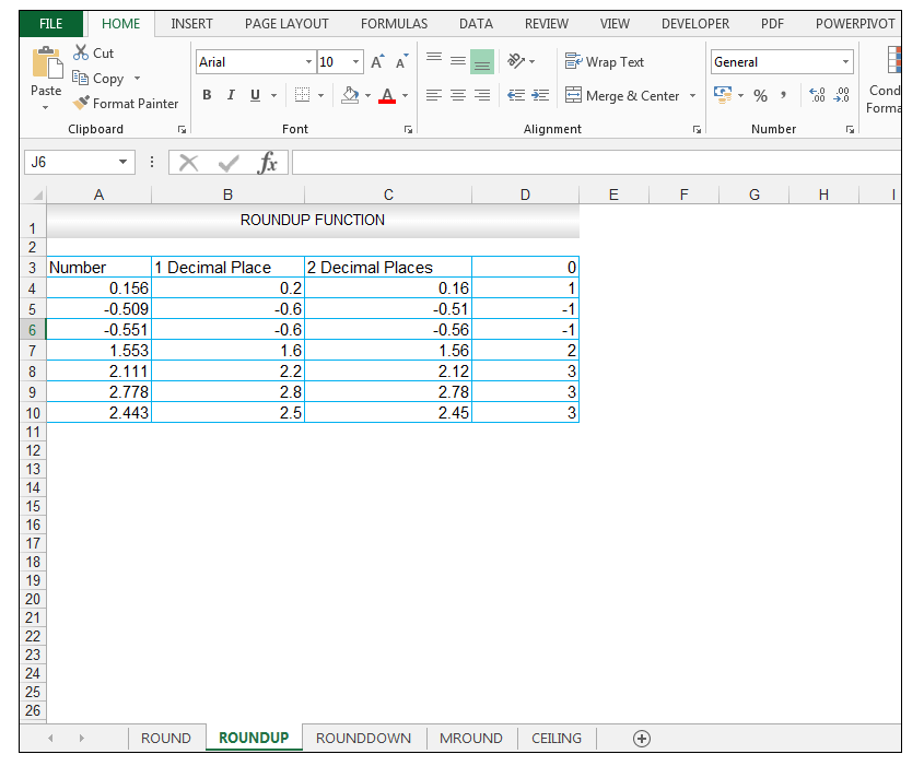 ROUNDUP Function in Excel - Image 10