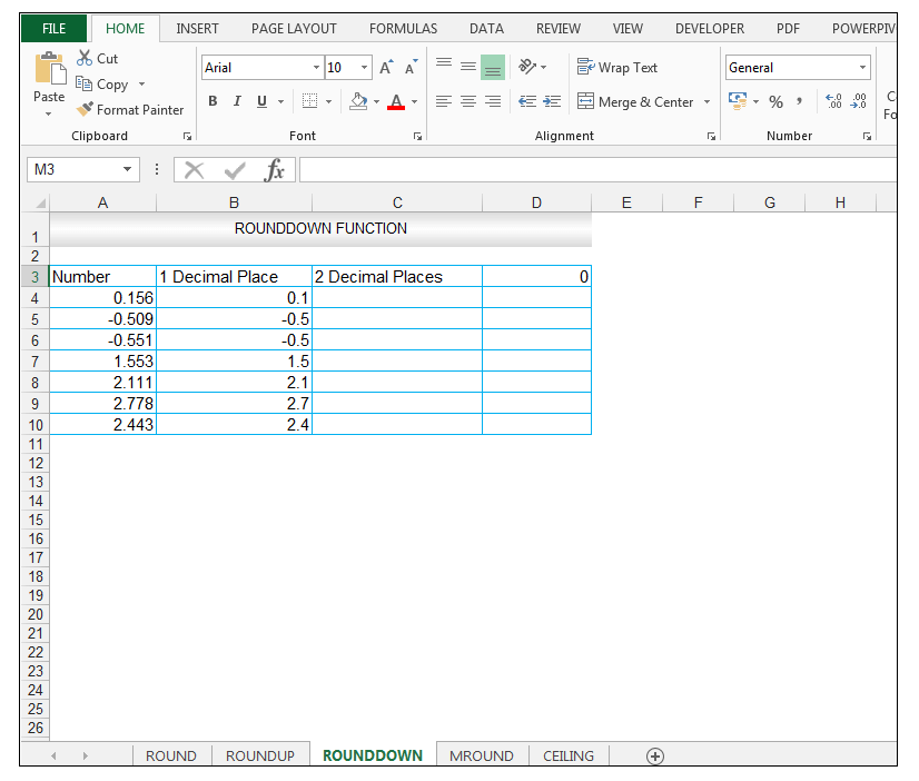 ROUNDDOWN Function in Excel - Image 4