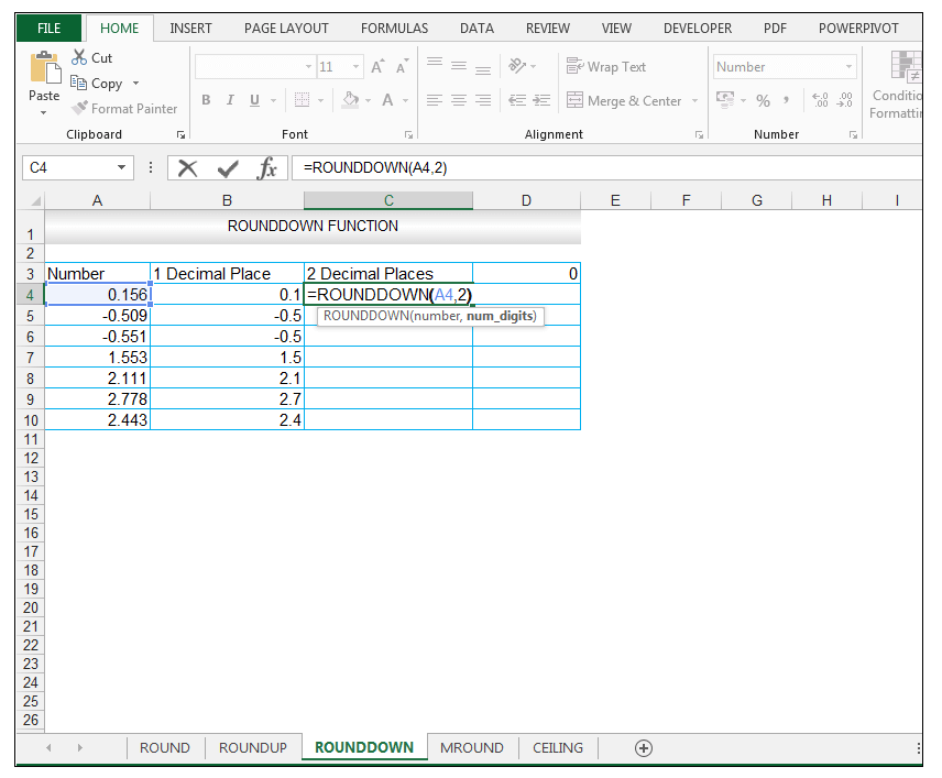 ROUNDDOWN Function in Excel - Image 5