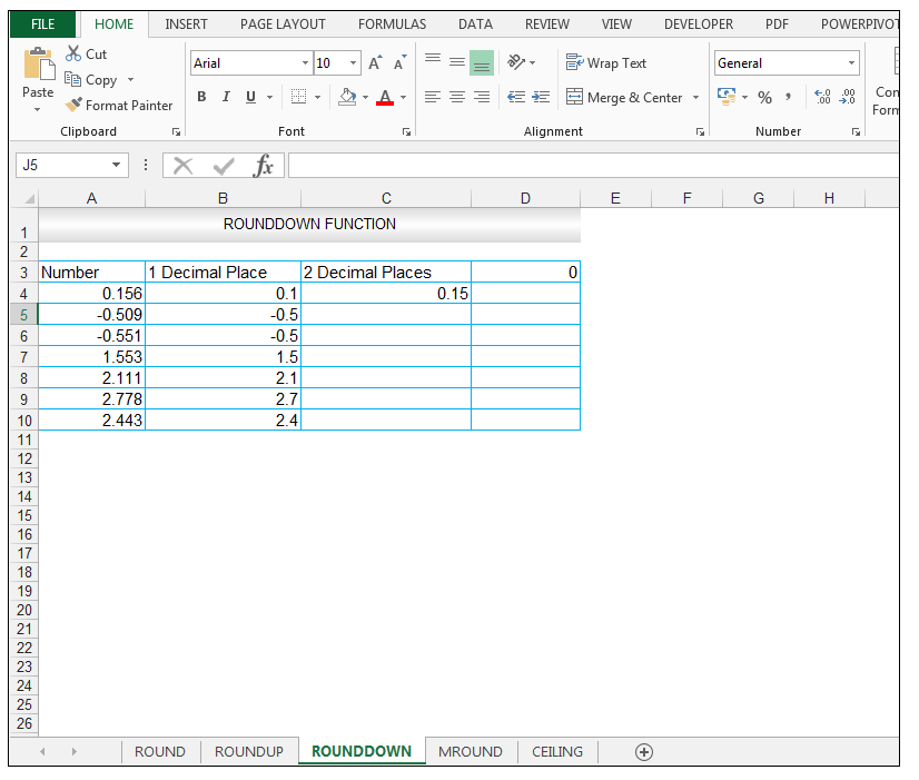 ROUNDDOWN Function in Excel - Image 6