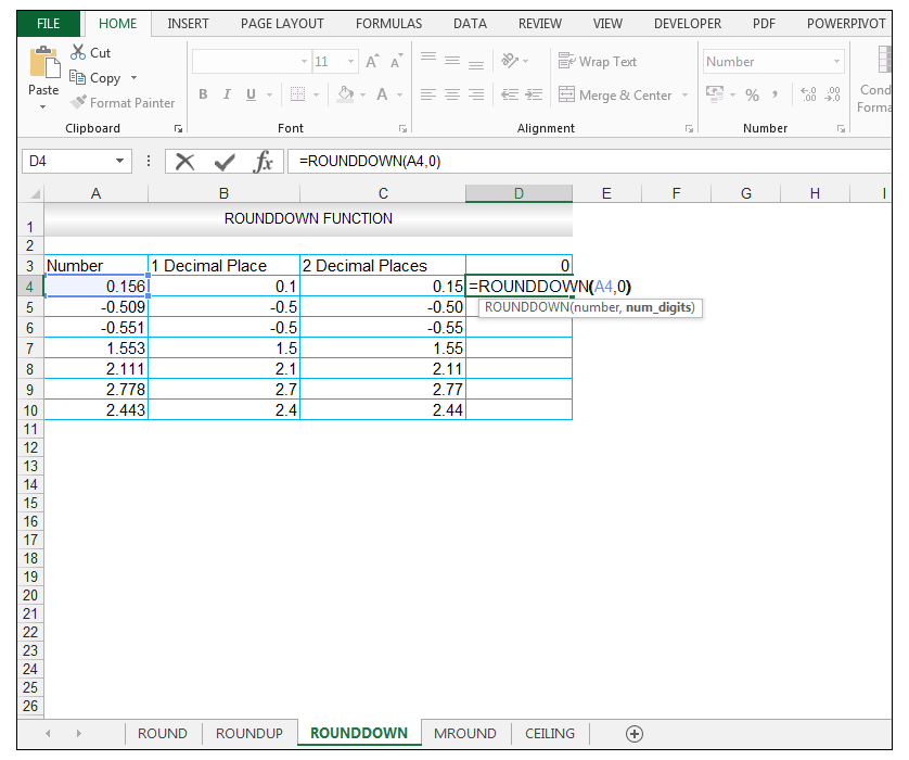 ROUNDDOWN Function in Excel - Image 8