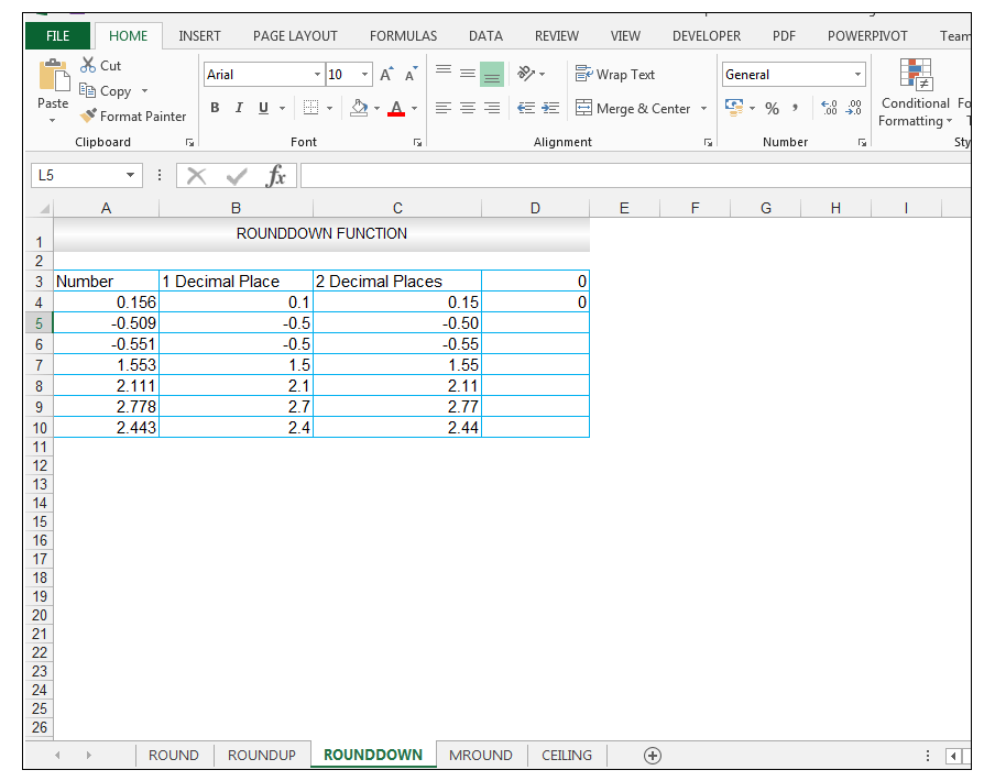 ROUNDDOWN Function in Excel - Image 9