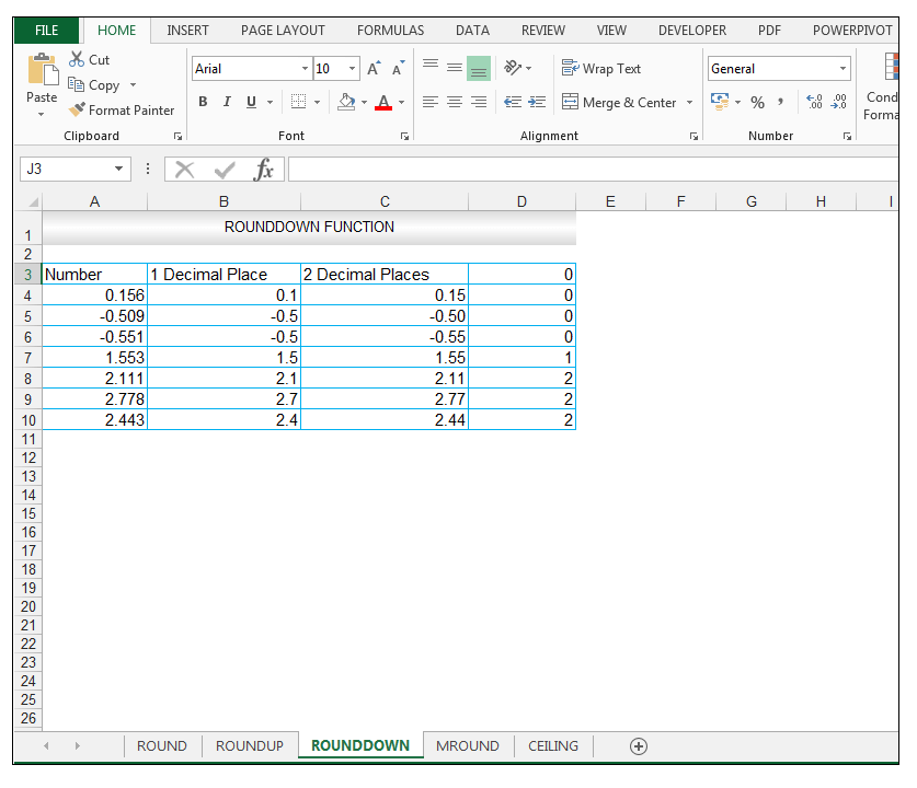 ROUNDDOWN Function in Excel - Image 10