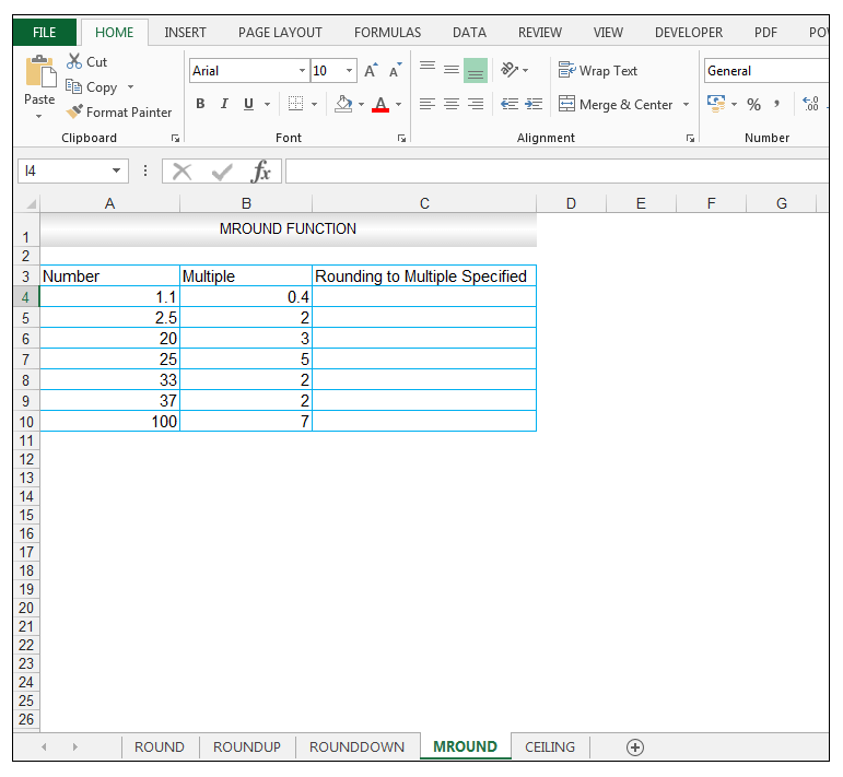 MROUND Function in Excel - Image 1