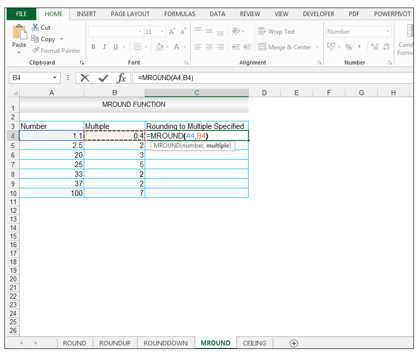 MROUND Function in Excel - Image 2