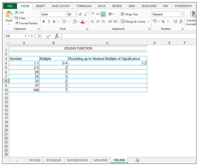 CEILING Function in Excel - Image 3