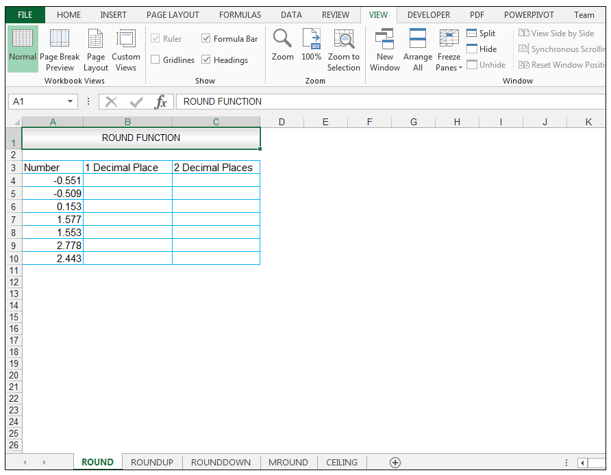 Excel Round Function - Image 1