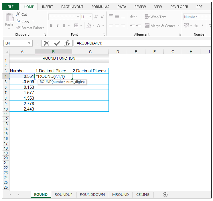 Excel Round Function - Image 2