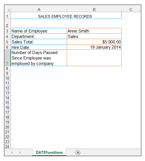 Today Now Excel Functions