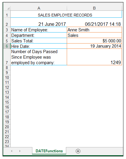 Excel NOW Function - Image 2