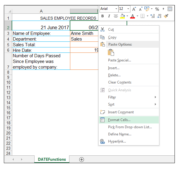 Excel NOW Function - Image 3