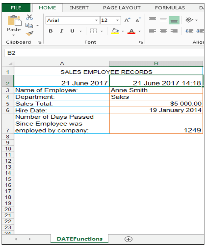 Excel NOW Function - Image 6