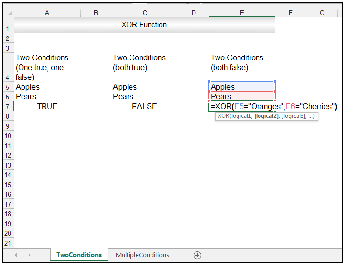 Excel XOR Function - Image 6