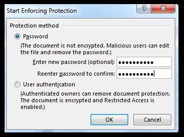 Start Enforcing Protection