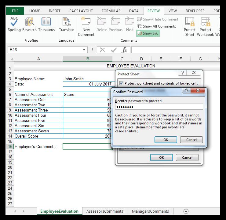 Confirm Password dialog
