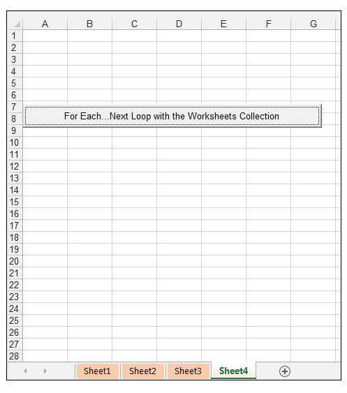 How to use the for each next loop in excel vba exceldemy next loop structure changed the tab color to light orange for each worksheet in the collection ibookread Read Online