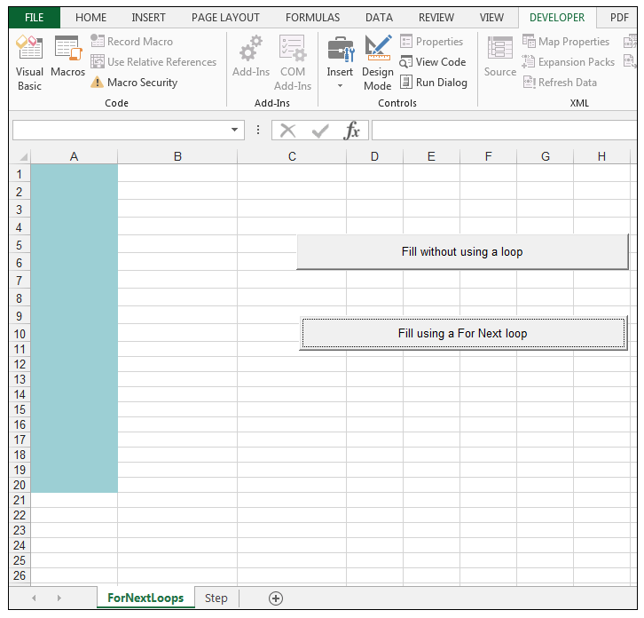 For Next Loop in VBA Excel (How to Step and Exit Loop) | ExcelDemy