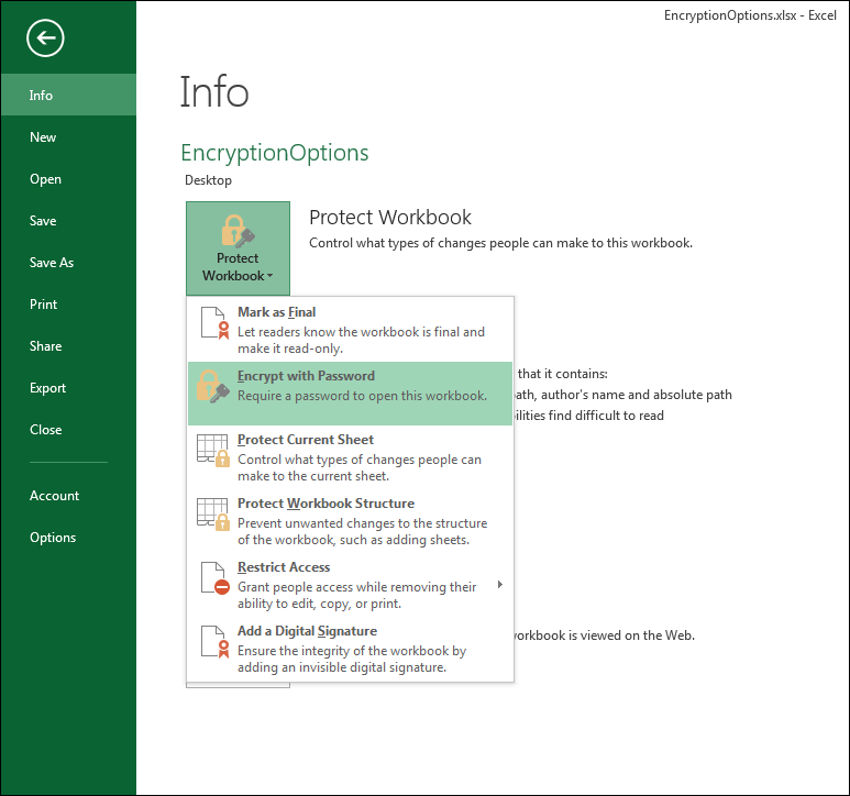Top Excel Security Tips Features For Securing Worksheets And. 1 In Order To Encrypt This Workbook And Prevent Users Without The Password From Opening It Go File>info>protect Choose With. Worksheet. Worksheet Reading Guide For Encryption At Clickcart.co