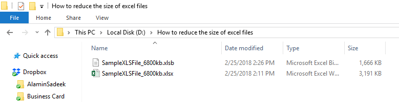 reducing large excel file size to small one