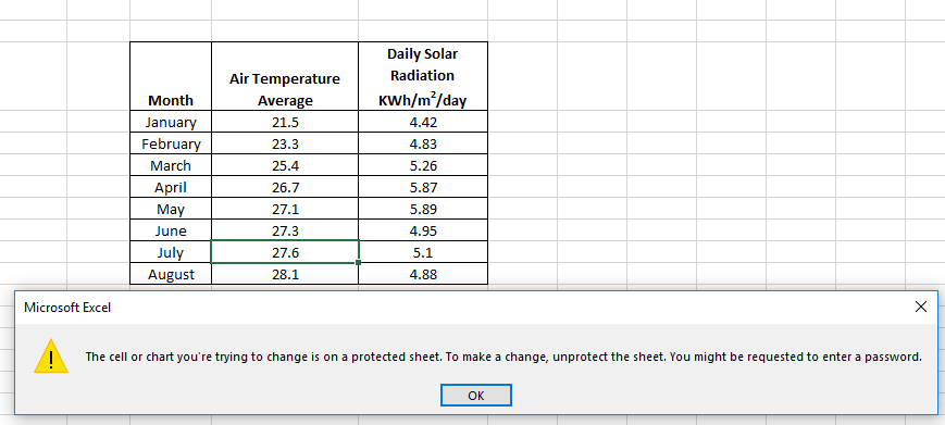 how to protect certain cells in excel vba