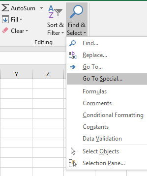 how to delete blank rows excel