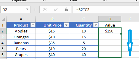 how to multiply columns in excel