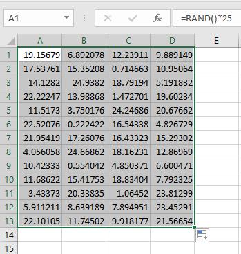 excel random number generator