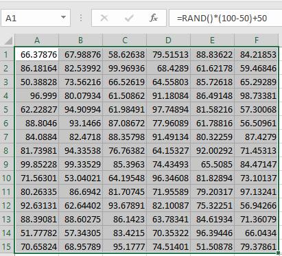 Generate random numbers between two numbers