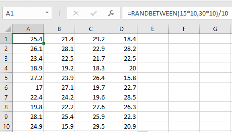 Generate random numbers with decimal places