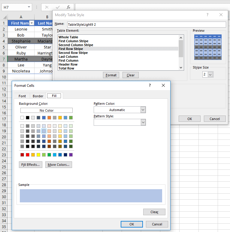 How to Highlight DifferentNumber of Rows in Each Zebra Line