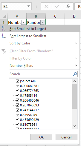 how to create a random number generator in excel