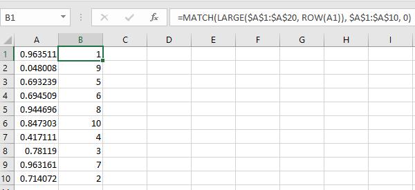 random number generator excel no duplicates