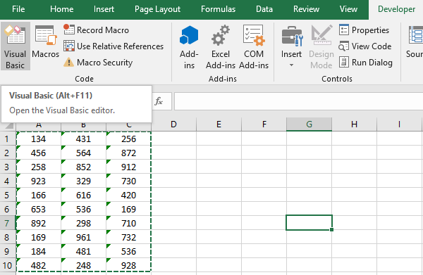 Excel VBA to Convert Text to Number
