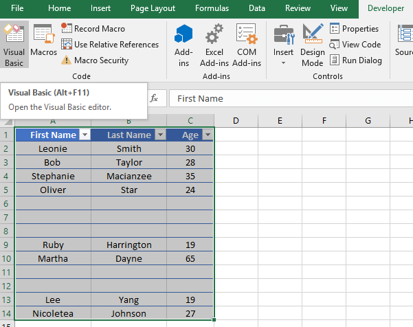 Removing Blank Rows using Excel VBA