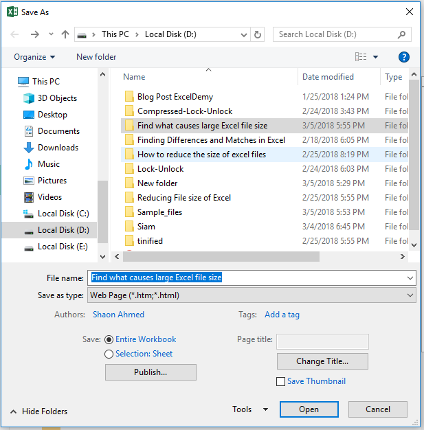 how to zip a excel file