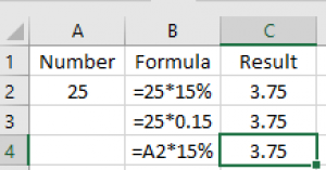 multiply percentages in Excel