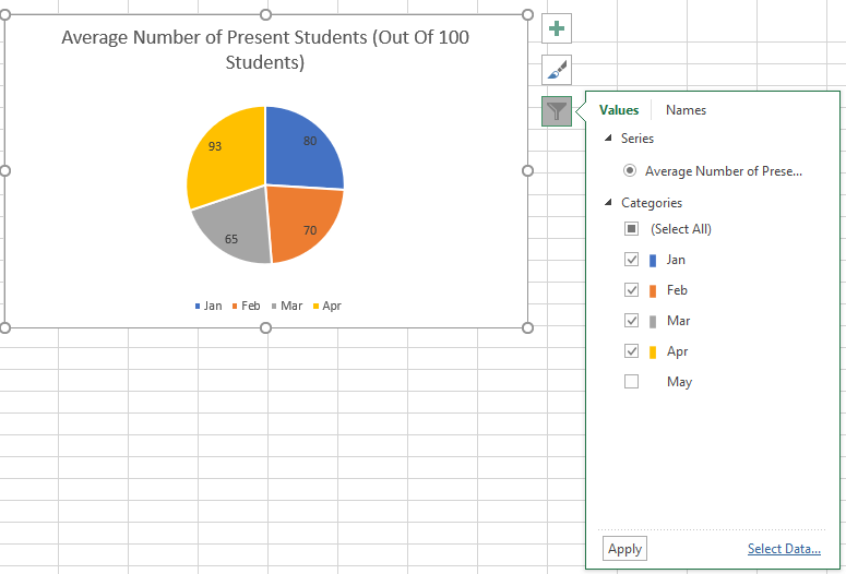 Excel Chart Filter