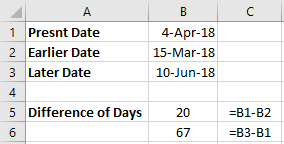 Excel Today Minus Date