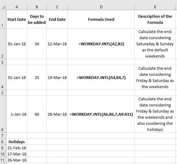 exclude weekends in excel date calculations