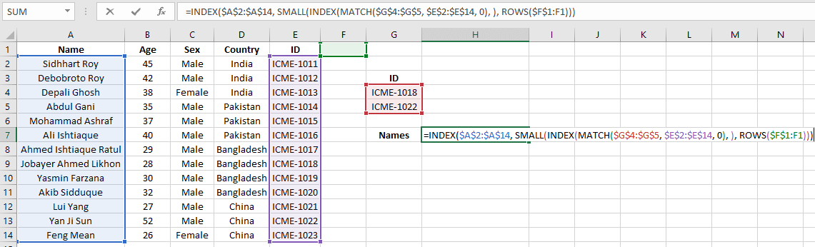Excel Index Match Multiple Criteria Multiple Results