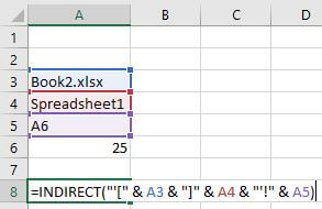 excel indirect another workbook closed