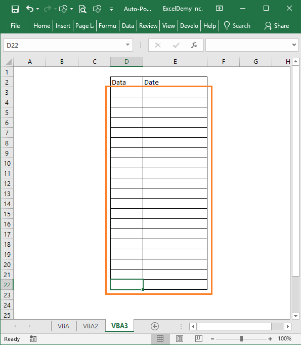 auto populate date in Excel when cell is updated Image 3
