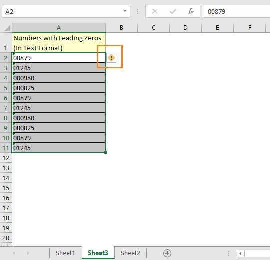 how to remove leading zeros in Excel